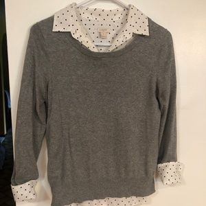 J Crew Button Down Collared Top